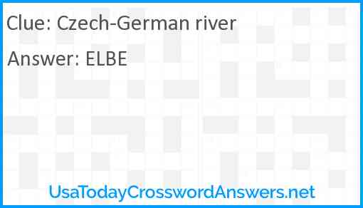 Czech-German river Answer