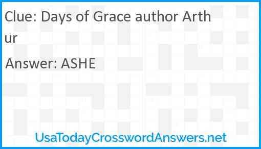 Days of Grace author Arthur Answer