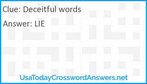 Deceitful words Answer