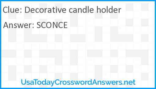 Decorative candle holder Answer