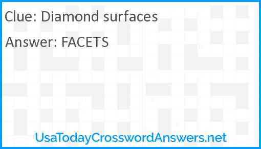 Diamond surfaces Answer