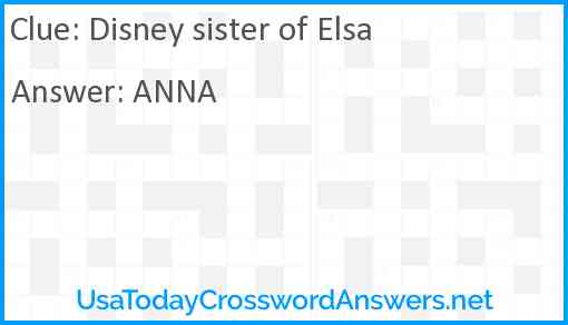 Disney sister of Elsa Answer