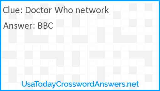 Doctor Who network Answer