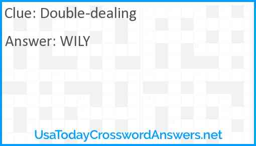 Double-dealing Answer