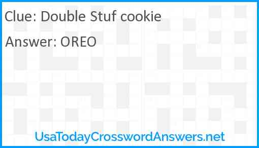 Double Stuf cookie Answer