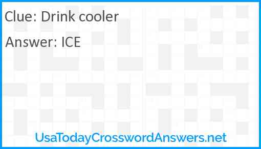 Drink cooler Answer