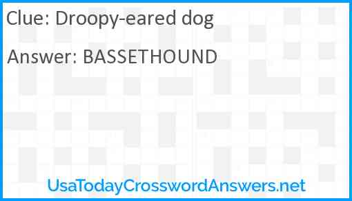Droopy-eared dog Answer