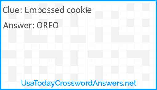 Embossed cookie Answer