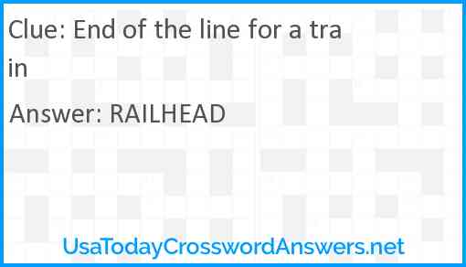 End of the line for a train Answer
