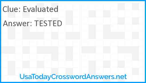 Evaluated Answer