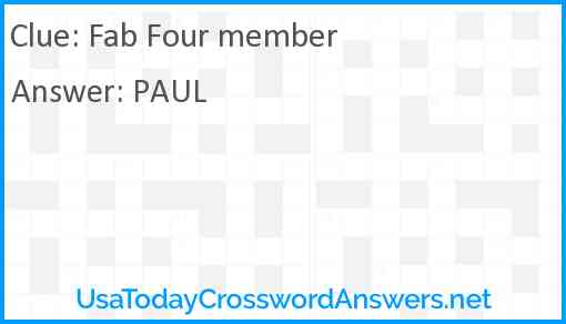 Fab Four member Answer