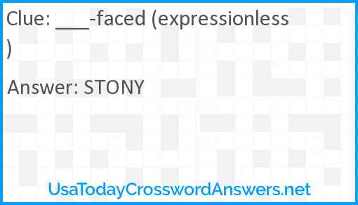 ___-faced (expressionless) Answer