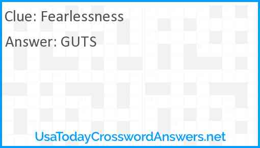Fearlessness Answer