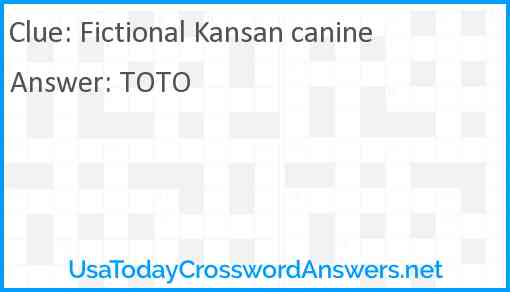 Fictional Kansan canine Answer