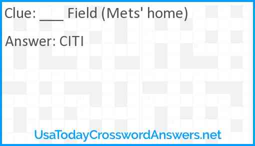 ___ Field (Mets' home) Answer