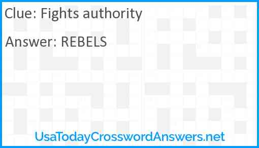 Fights authority Answer