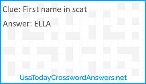 First name in scat Answer