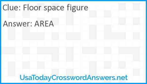 Floor space figure Answer