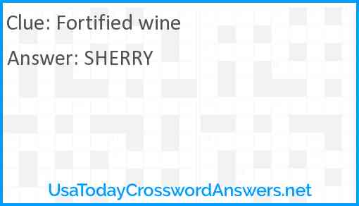 Fortified Wine Crossword Clue Usatodaycrosswordanswers Net