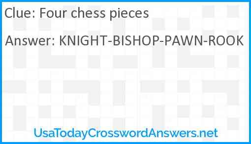 Four chess pieces Answer