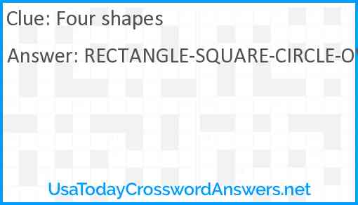 Four shapes Answer