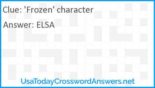 'Frozen' character Answer