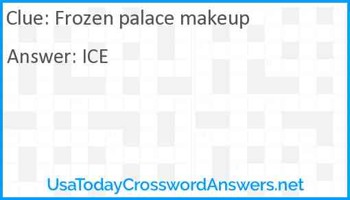 Frozen palace makeup Answer