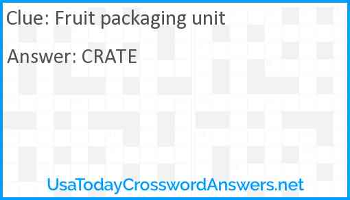 Fruit packaging unit Answer