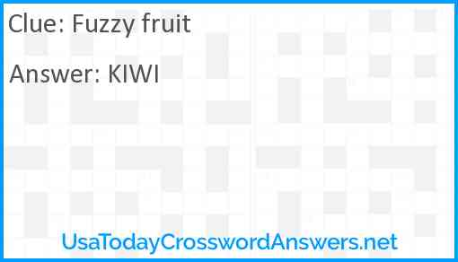 Fuzzy fruit Answer