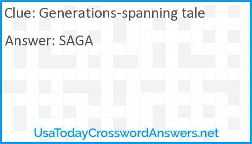 Generations-spanning tale Answer