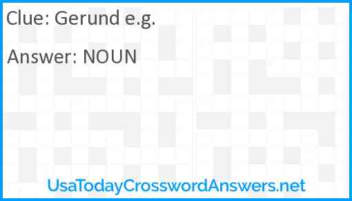Gerund e.g. Answer