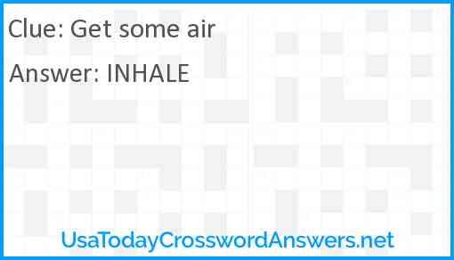 Get some air Answer