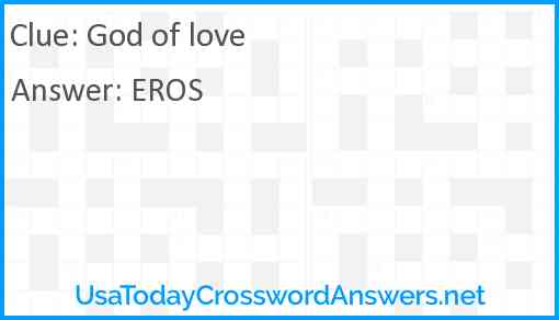 God of love Answer