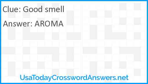 Good smell Answer