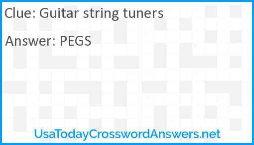 Guitar string tuners Answer