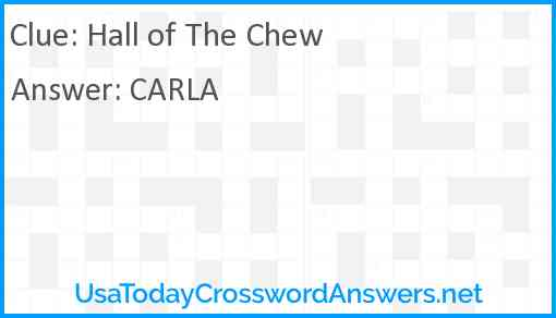 Hall of The Chew Answer