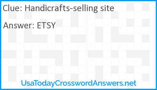 Handicrafts-selling site Answer