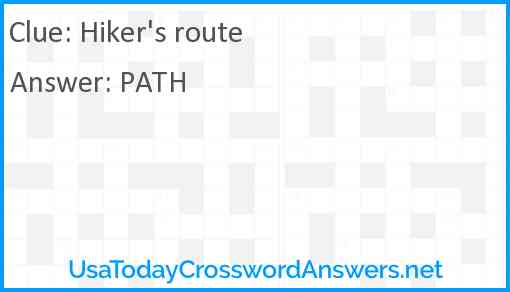 Hiker's route Answer