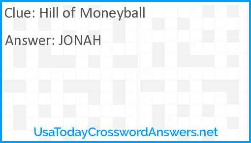 Hill of Moneyball Answer