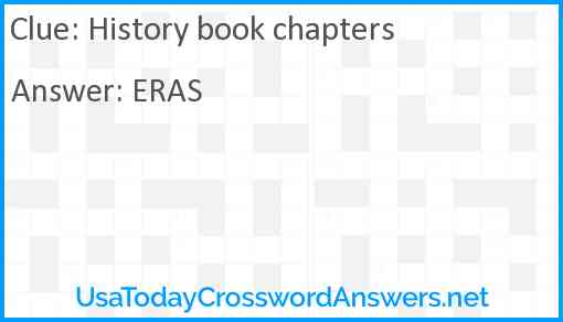 History book chapters Answer
