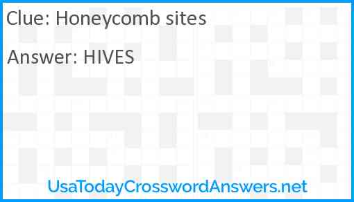 Honeycomb sites Answer