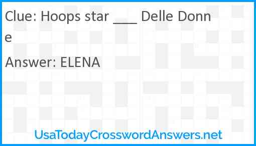Hoops star ___ Delle Donne Answer