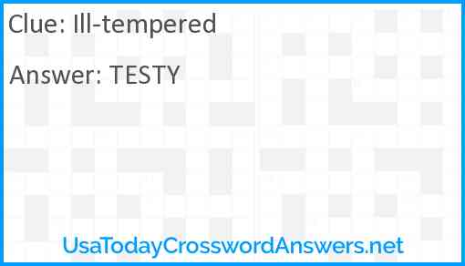 Ill-tempered Answer