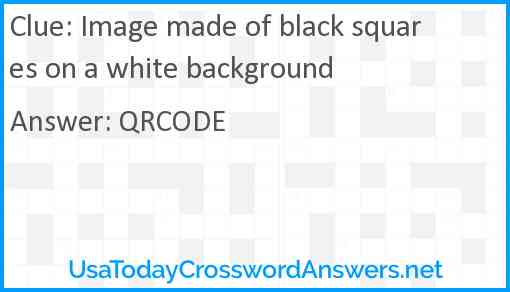 Image made of black squares on a white background Answer