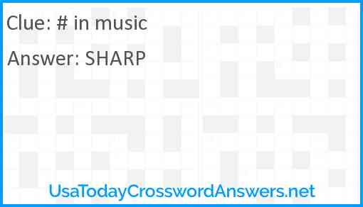 # in music Answer