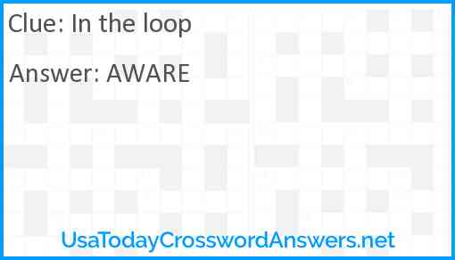 In the loop Answer