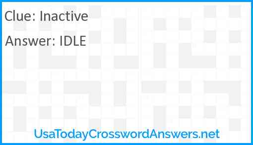 Inactive Answer