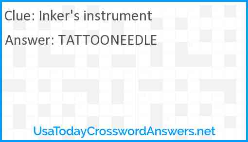 Inker's instrument Answer