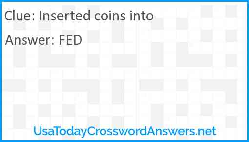 Inserted coins into Answer