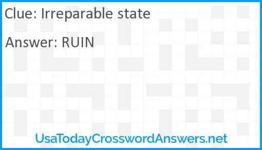 Irreparable state Answer